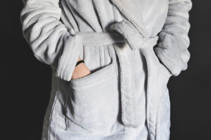 badjas aantrekken